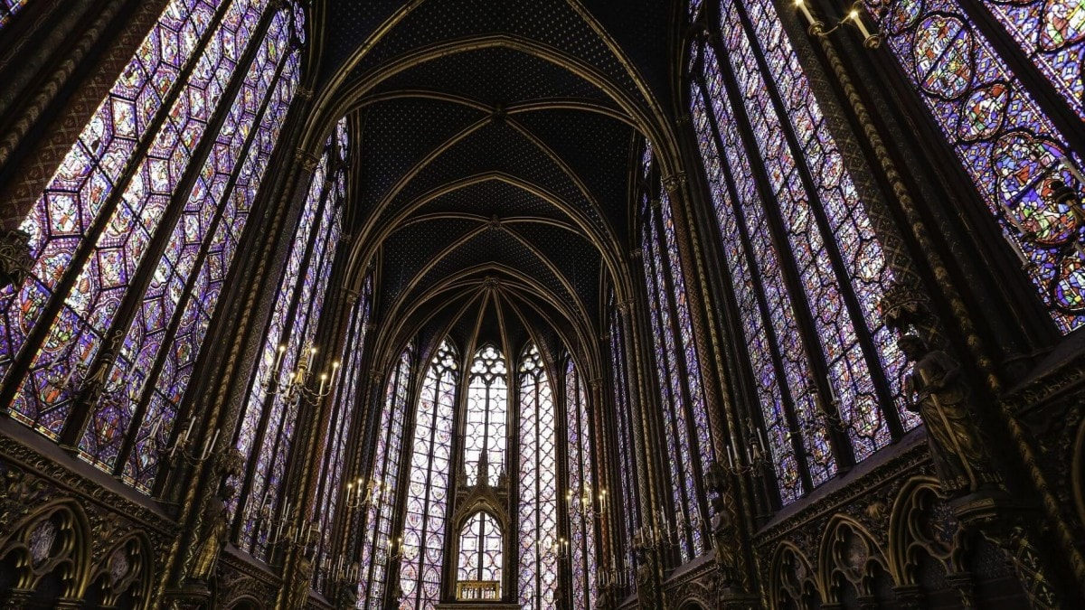 Stained glass windows of Sainte Chapelle