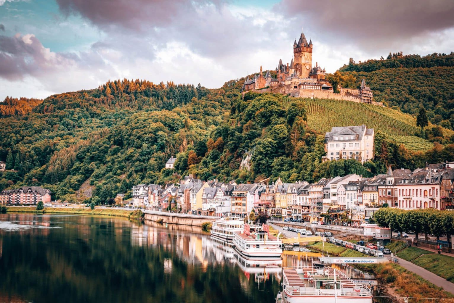 Cochem castle, Germany stunning town in the Mosel Valley