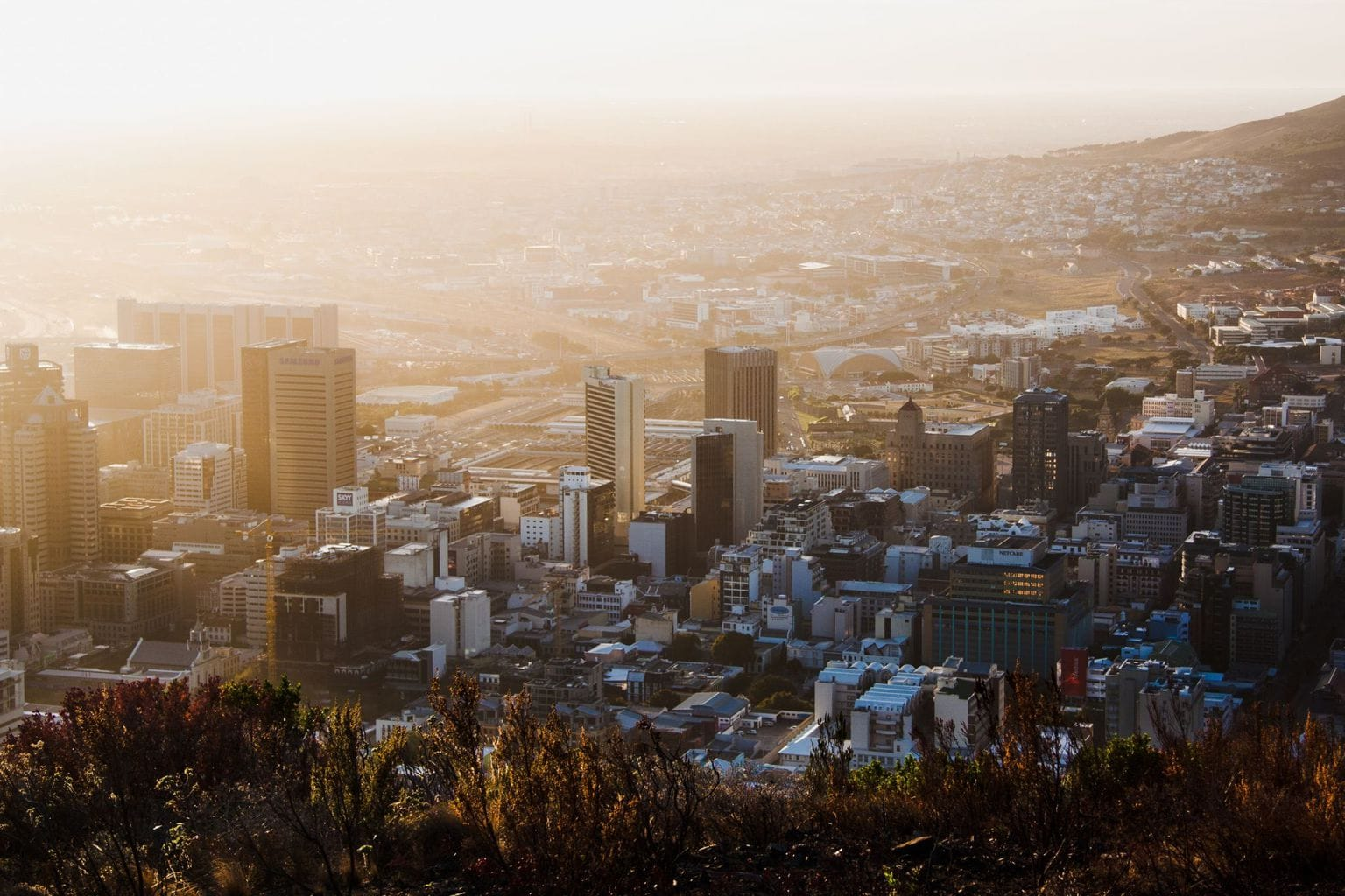 Picture of Cape Town at sunset