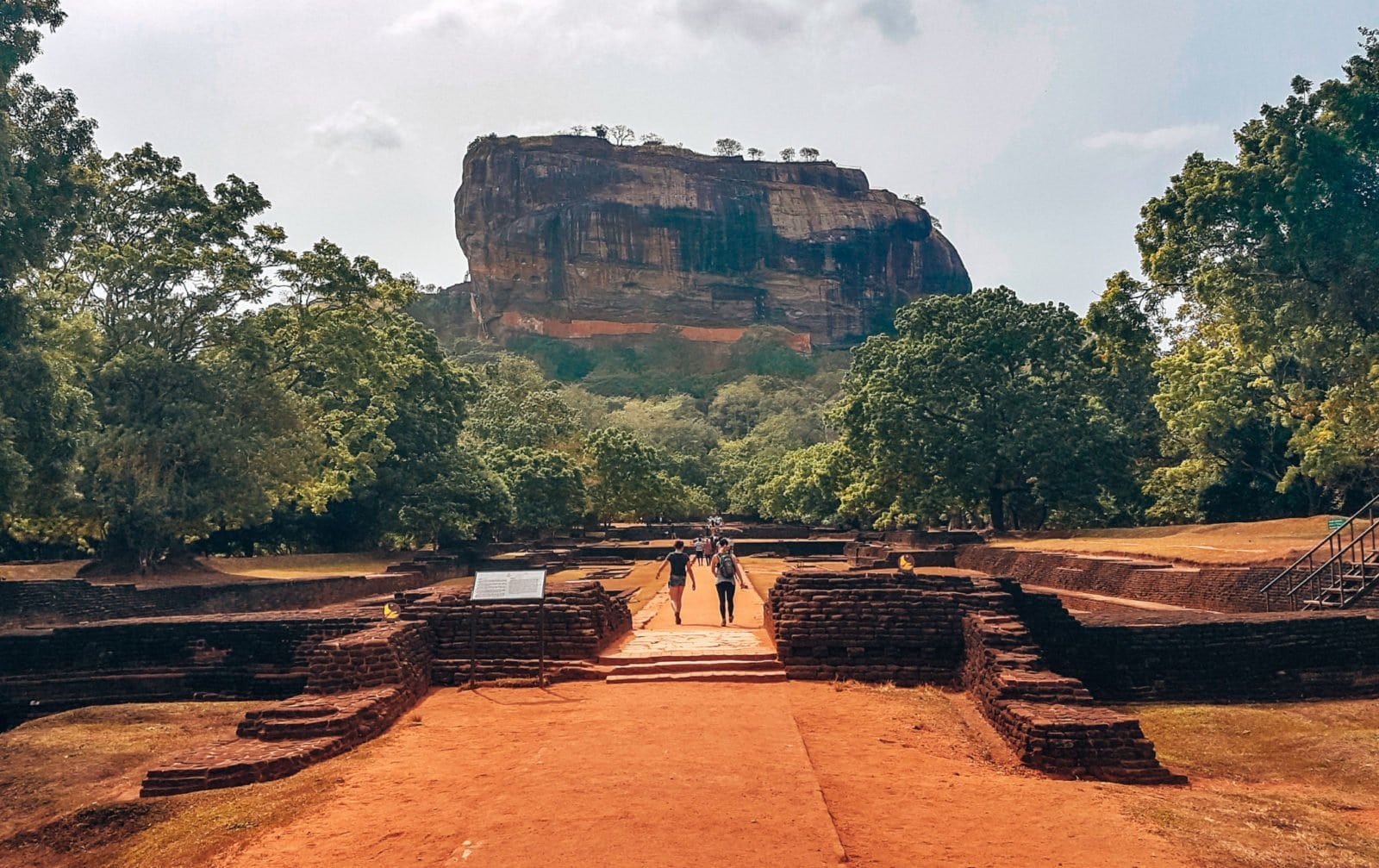 The imposing Sigiriya Rock, Sri Lanka