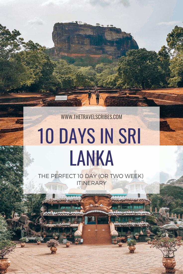 Pinterest pin for Sri Lanka itinerary