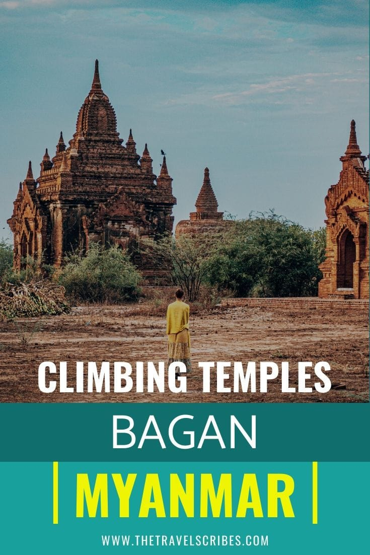 Pinterest Pin for Bagan Temple Guide and Bagan Temples Map