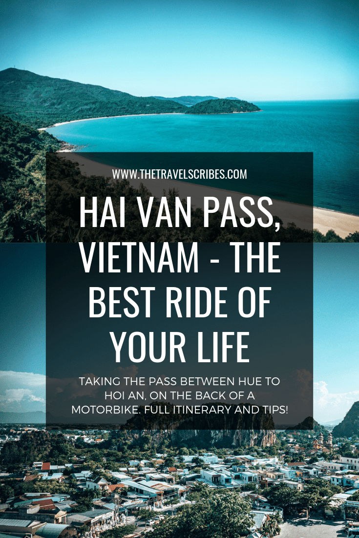 Pinterest graphic for the Hai Van Pass from Hue to Hoi An