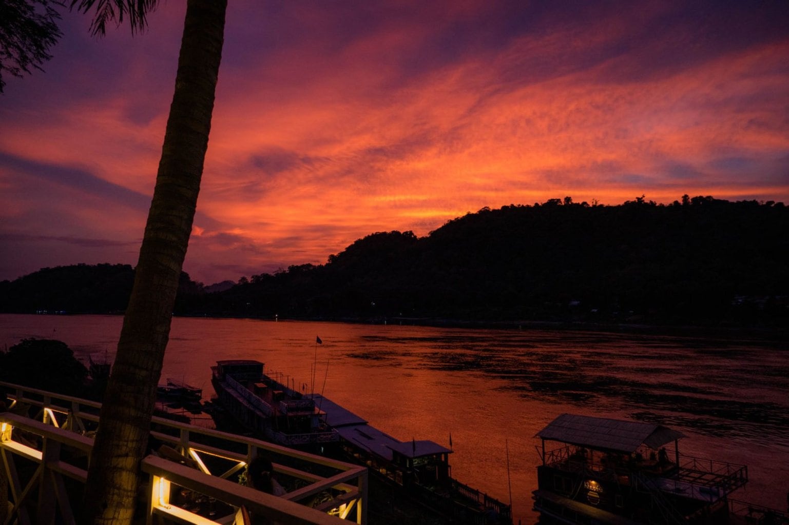 Belle Rive Bar sunset, Luang Prabang