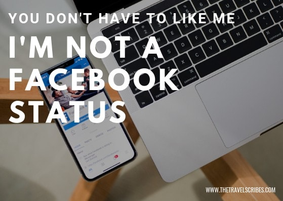 Captions for Facebook - I'm not a Facebook status