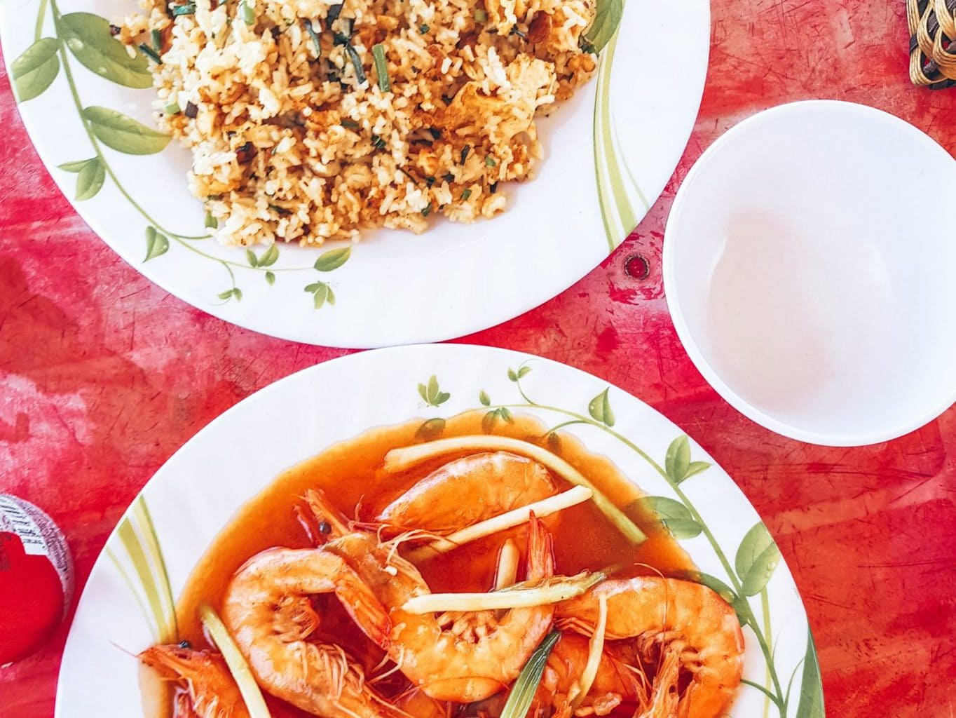 Photo of prawns and fried rice