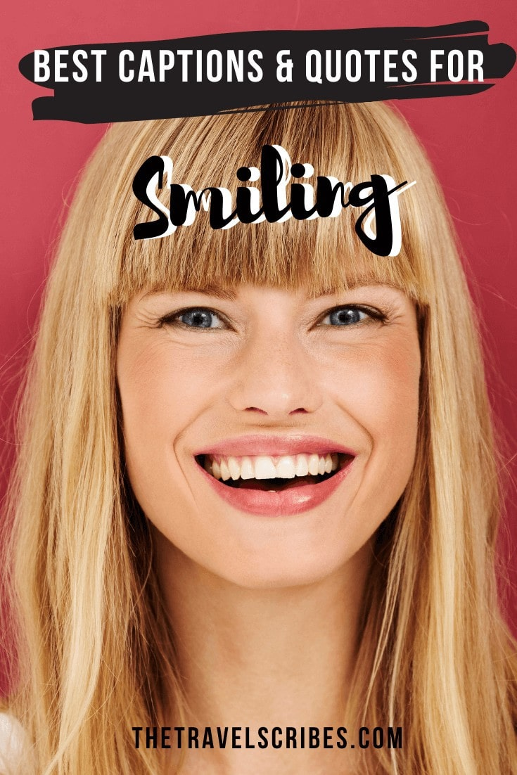 Pinterest Graphic - Instagram Captions for Smile and Smile Quotes