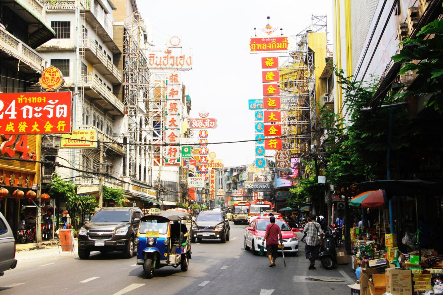 Picture of streets of Chinatown, Bangkok Thailand