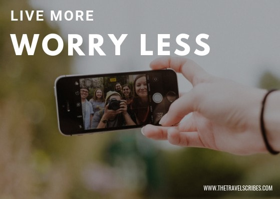 Cute captions for pictures of yourself - Graphic for Live more worry less