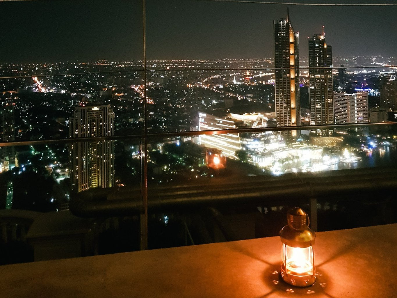 Picture of Bangkok night skyline from Sky bar
