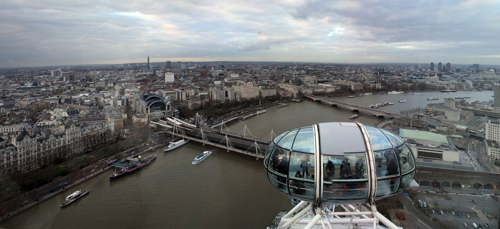Birds eye view of the London Eye