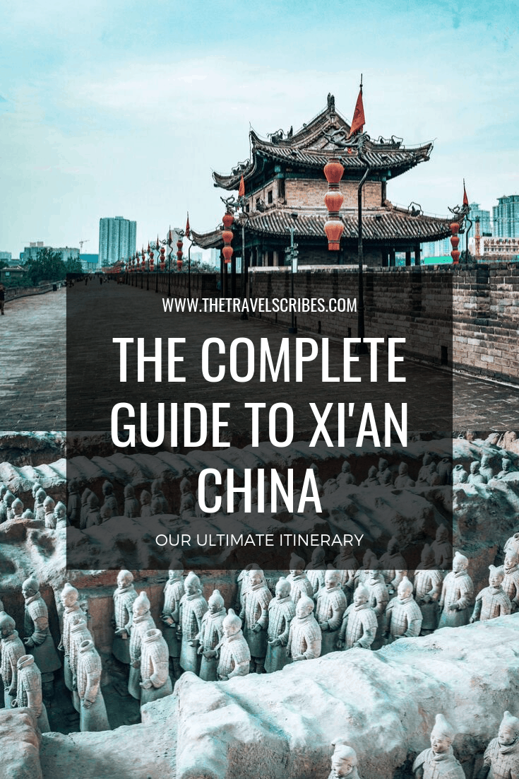 Pinterest graphic for Xian itinerary China