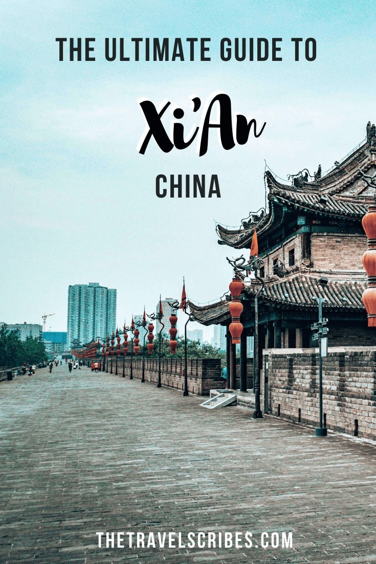 Xian itinerary and city guide Pinterest Pin