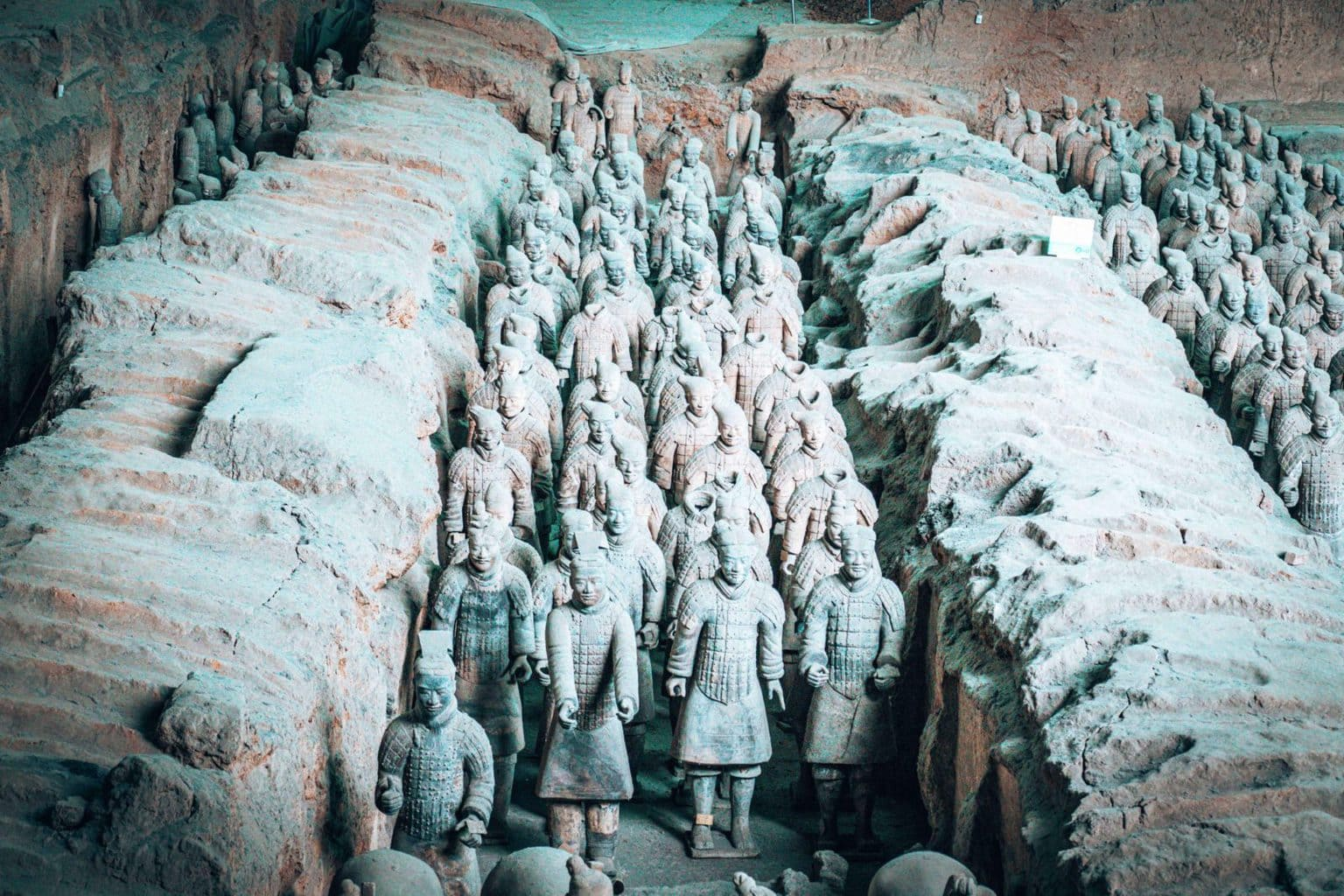 Image close-up of the Terracotta Warriors in Xian China