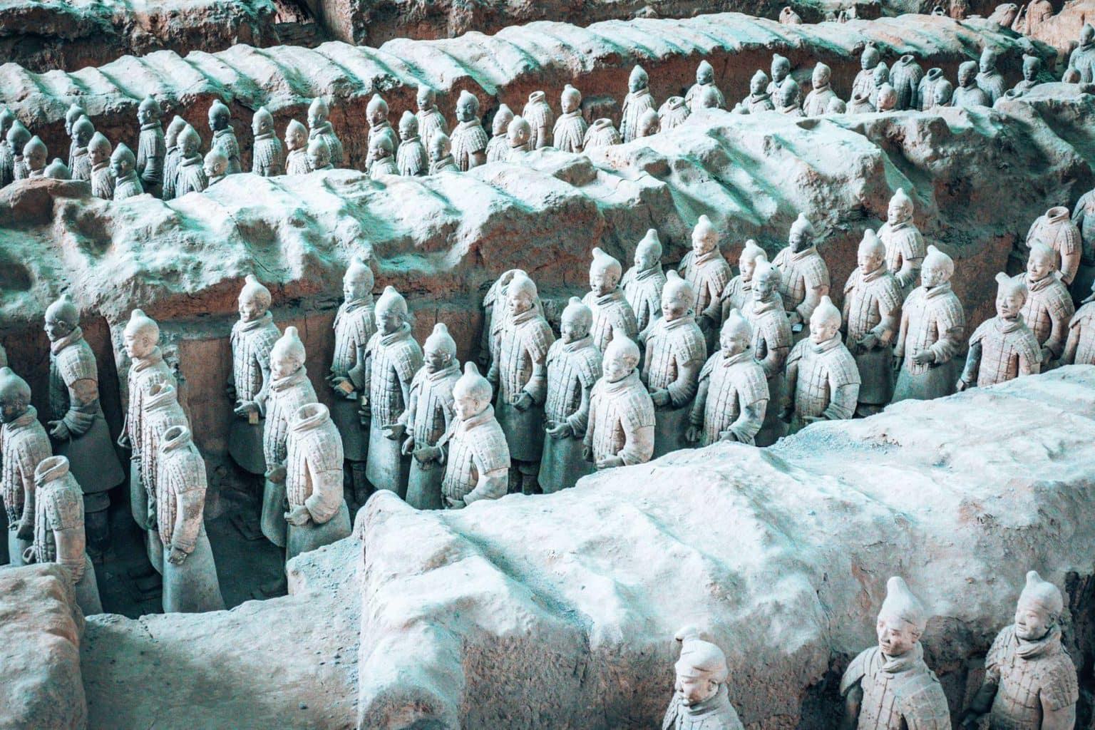 Image of the Terracotta Warriors in Xi'an China