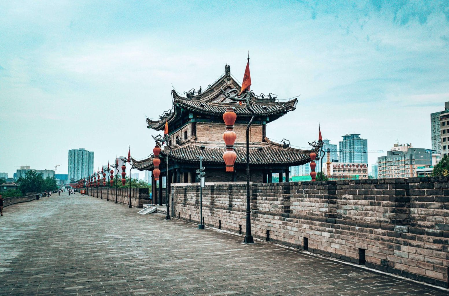 Image of Xian city walls, China