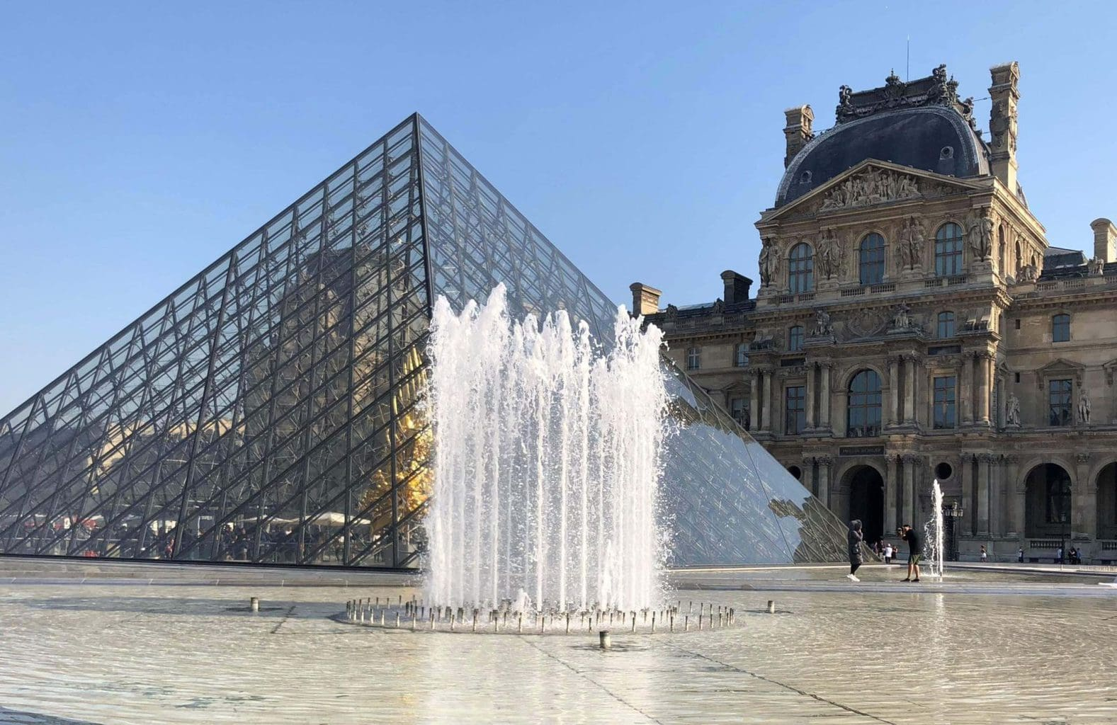 Louvre - one of the most famous landmarks in Paris