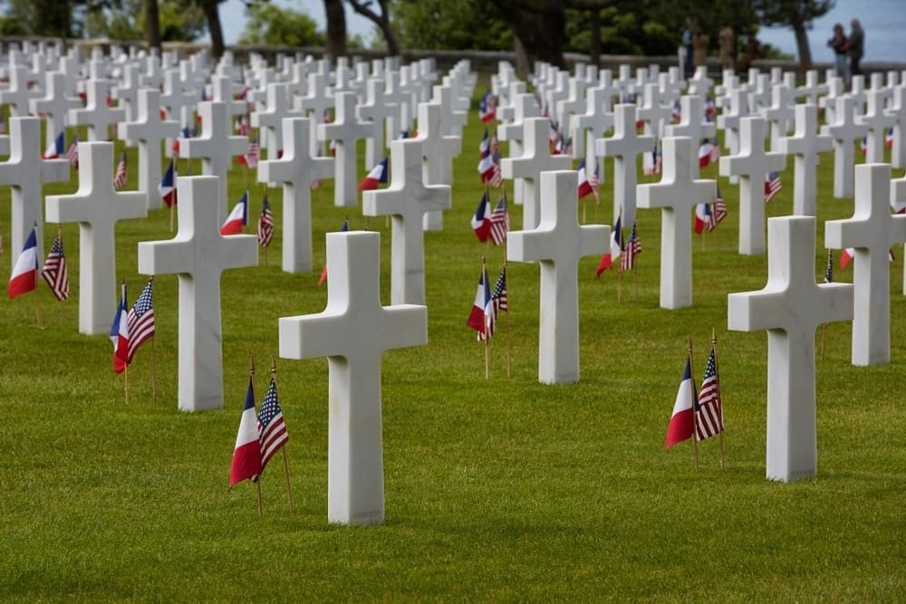 French landmarks - Normandy American cemetery