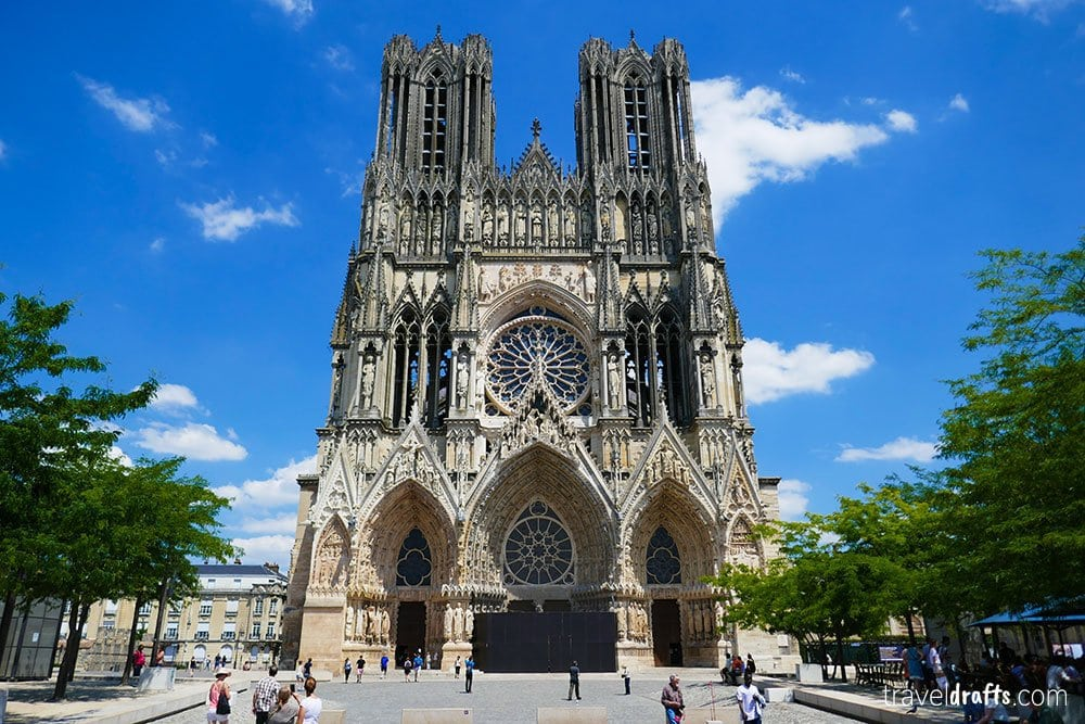 Reims Cathedral - famous landmark in France
