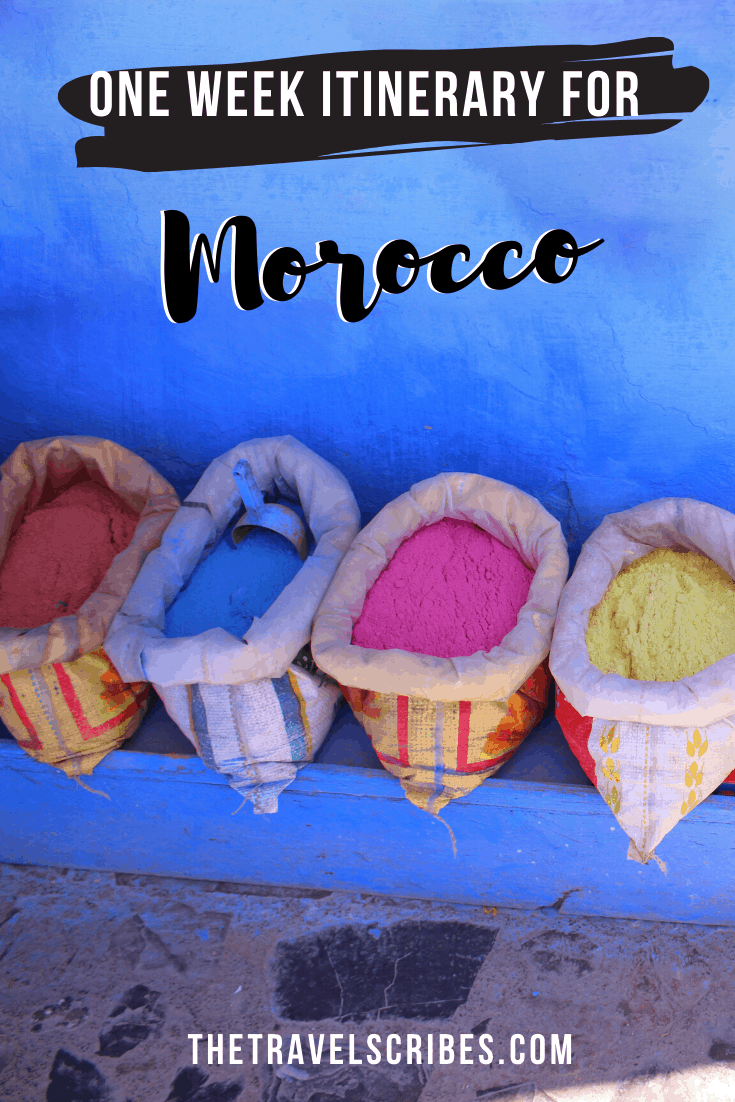 One week in Morocco - pin