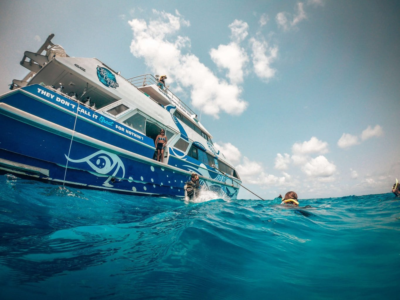 The Divers Den Reef Quest boat