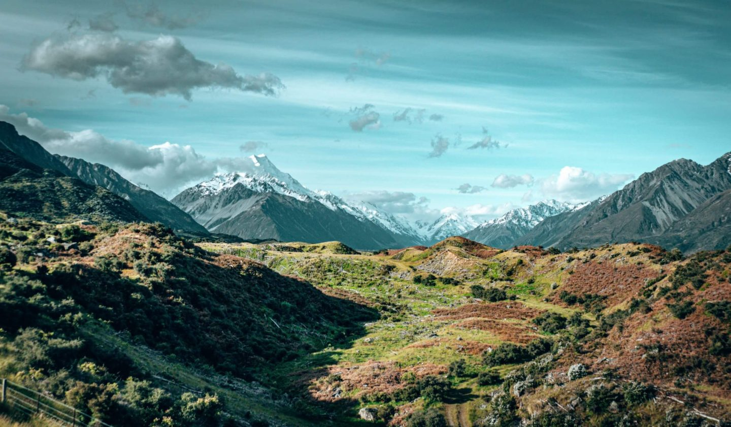 The valley view from the Tasman Glacier