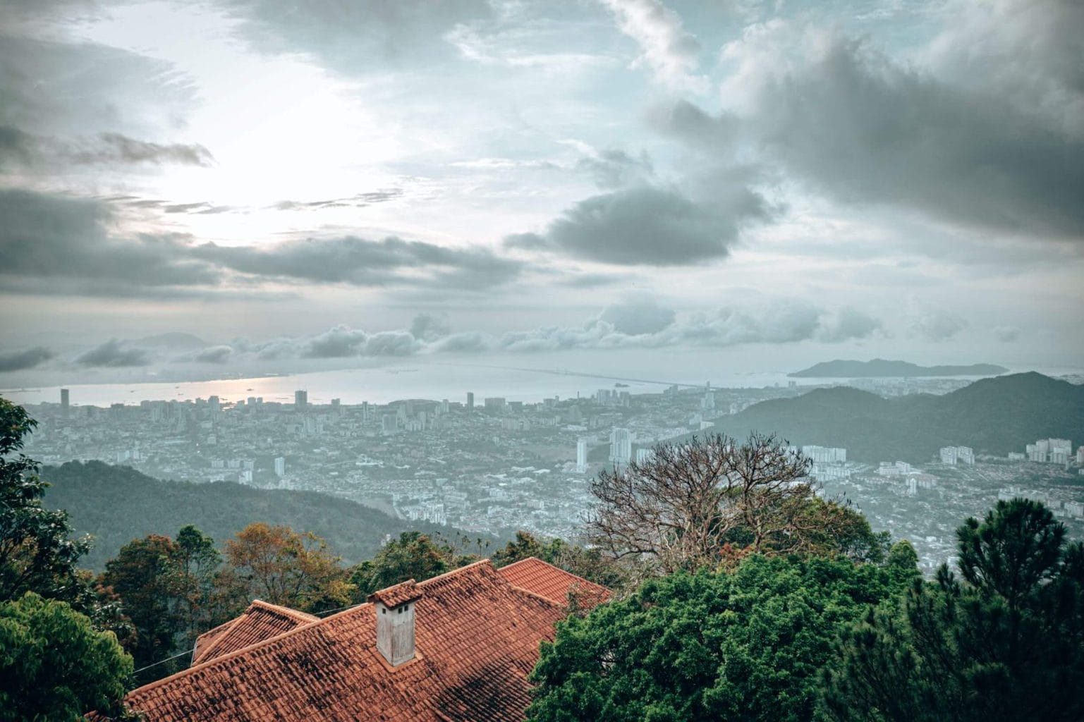 The view from Penang Hill, George Town