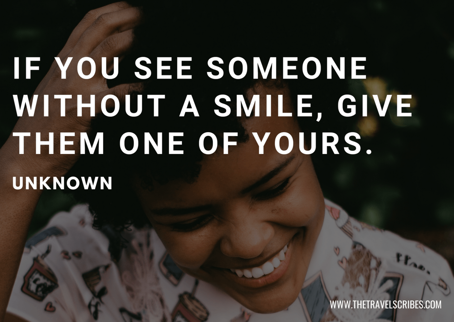 Making someone smile quotes