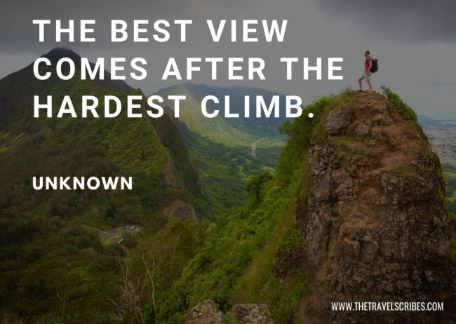 Hiking Quotes about mountains