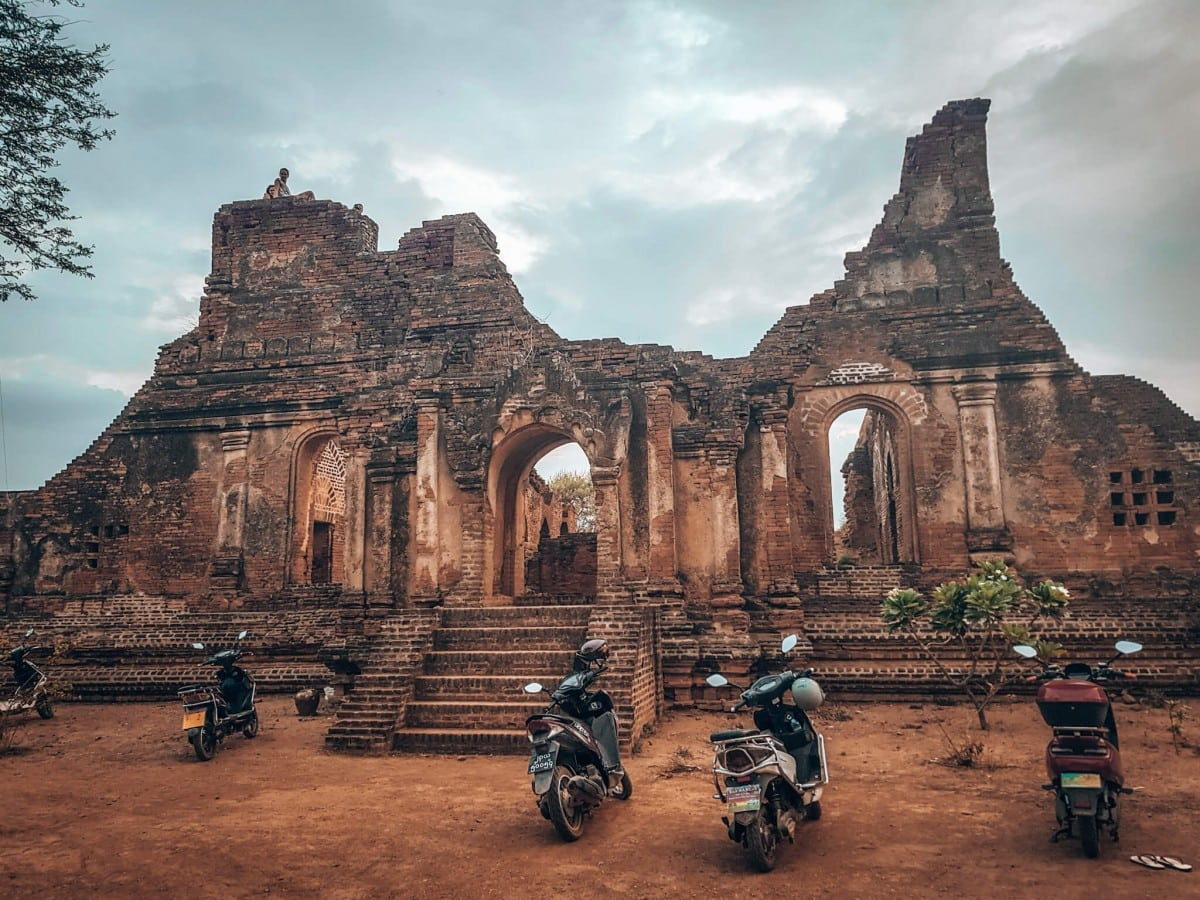 E bikes at Bagan temple