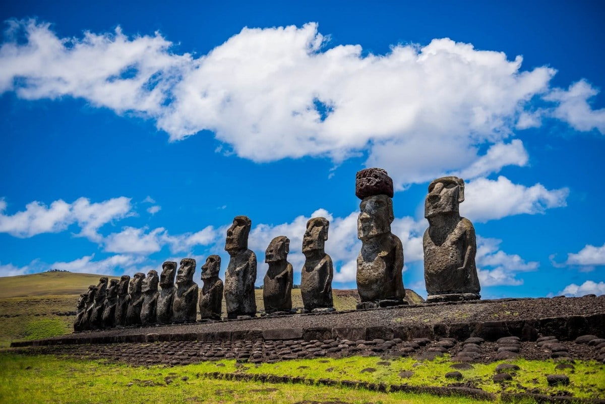 Famous Landmarks around the world - Easter Island statues