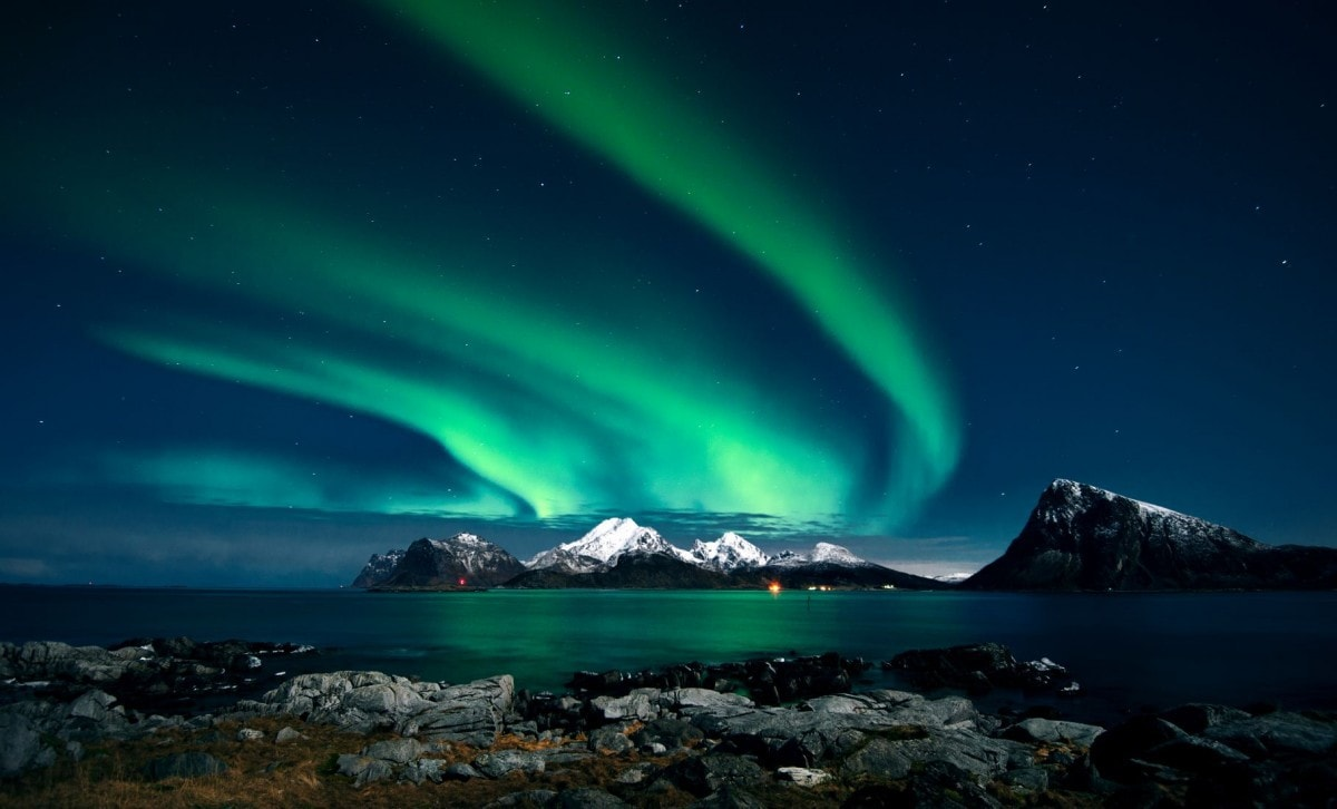 Famous landmarks in Europe - Northern Lights