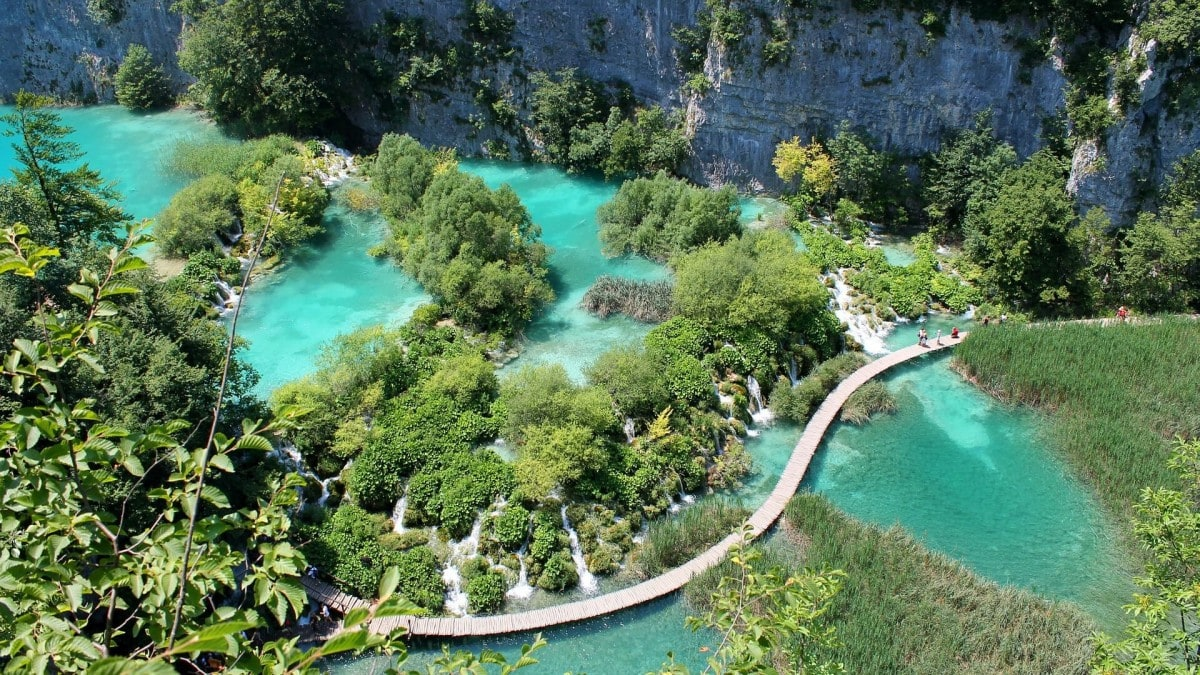 Plitvice Lakes National Park, a day trip from Split