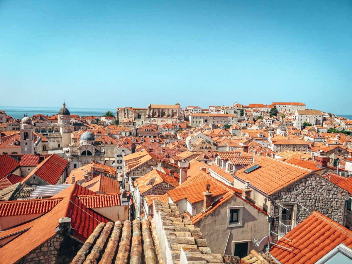 10 days in Croatia itinerary - Dubrovnik Old Town roofs