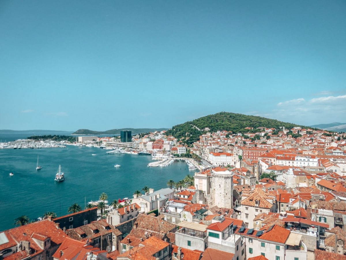 10 days in Croatia itinerary - Split cityscape from the Bell Tower