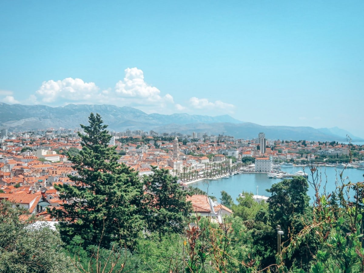 10 days in Croatia itinerary - view from Marjan Hill