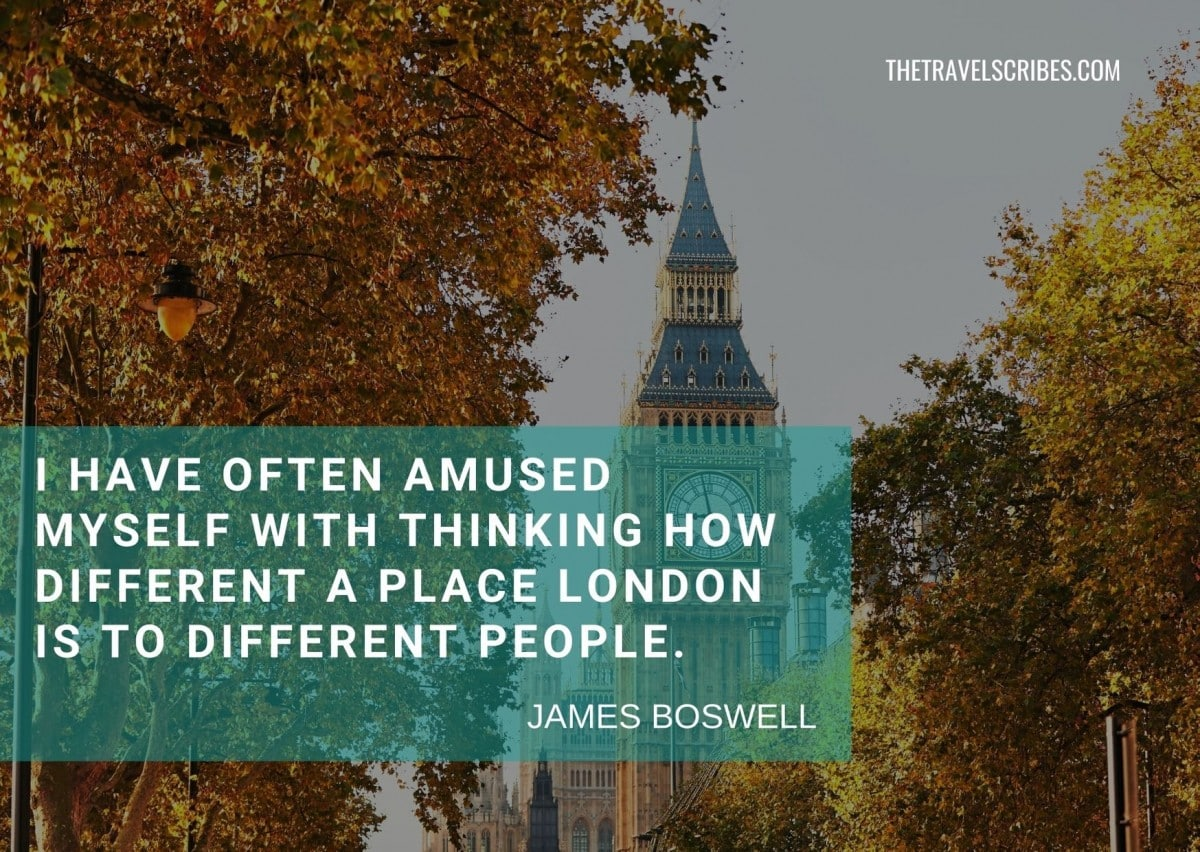 London quotes for Instagram - James Boswell
