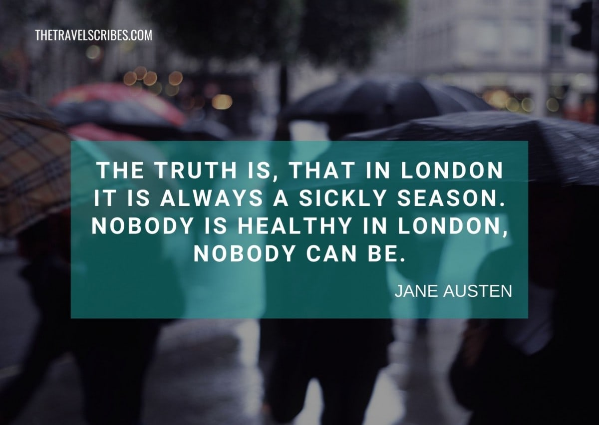 Quotes about london for Instagram - Jane Austen