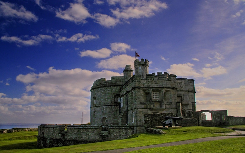London to Cornwall by car - stop at Pendennis Castle
