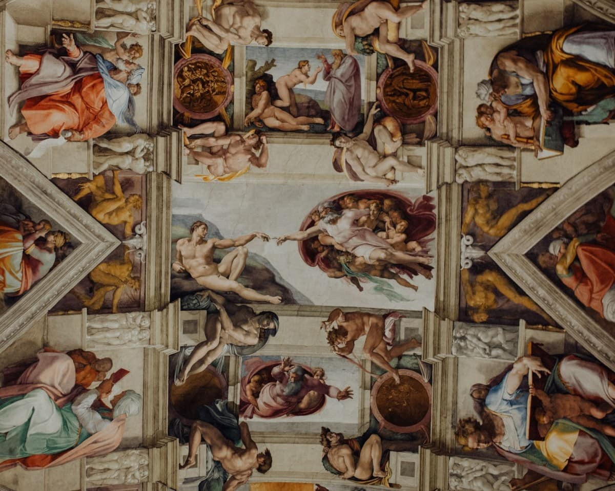 The Sistine Chapel ceiling painted by Michelangelo was painted by one of the most famous people in italy