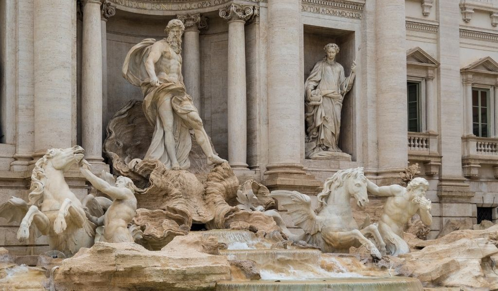 Trevi Fountain in Rome is an iconic monument